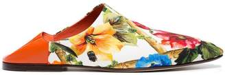 Dolce & Gabbana Floral Leather Mules