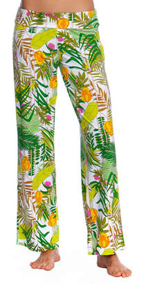 Trina Turk It's Bananas Roll-Top Coverup Pants