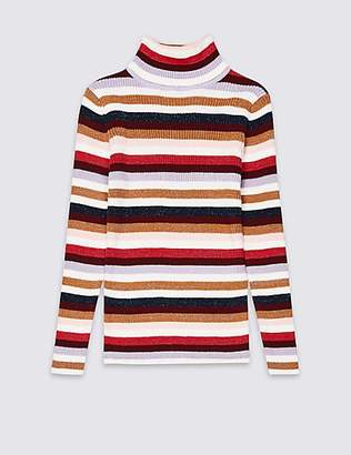 Marks and Spencer Cotton Rich Striped Jumper (3-16 Years)