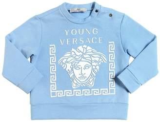 Versace Rubberized Print Cotton Sweatshirt
