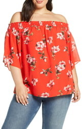 Rachel Roy Collection Off the Shoulder Top