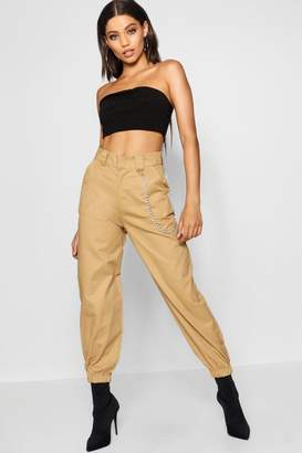 boohoo Chain Trim Cargo Trousers