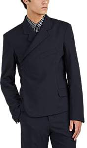 Martine Rose Men's Wrap One-Button Sportcoat - Navy