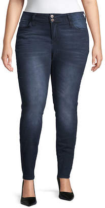 Hydraulic Womens Mid Rise Skinny Fit Jean - Juniors Plus