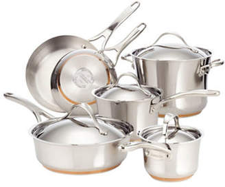Anolon Nouvelle Stainless Steel Ten-Piece Cookware Set - Induction Ready