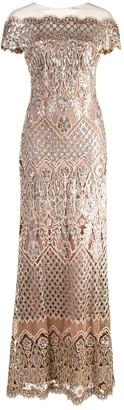 Tadashi Shoji sequin embellished gown