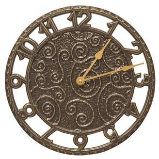 "Whitehall Products 14"" Flourish Indoor/Outdoor Wall Clock"