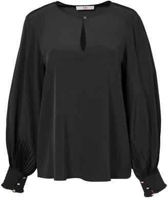 Tibi Arielle Silk Long Sleeve Top