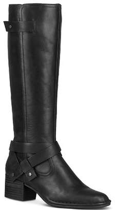 UGG Women's Bandara Round Toe Leather Mid-Heel Boots