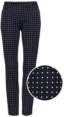Banana Republic Petite Sloan Skinny-Fit Polka Dot Ankle Pant