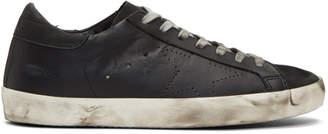 Golden Goose Black Perforated Skate Superstar Sneakers