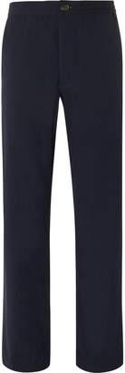 Oliver Spencer Stretch-Cotton Seersucker Drawstring Trousers