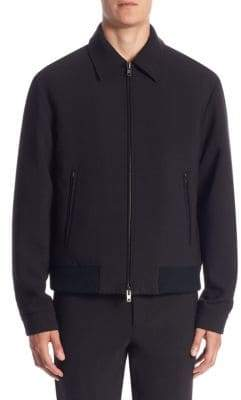Vince Spread Collar Bomber Jacket