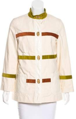 Tory Burch Long Sleeve Corduroy-Trimmed Jacket w/ Tags