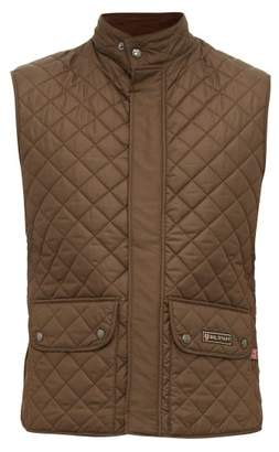 Belstaff Diamond Quilted Shell Gilet - Mens - Khaki