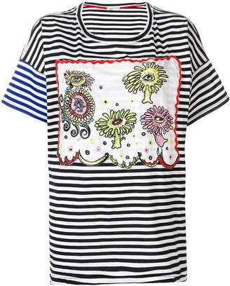 Tsumori Chisato boxy striped T-shirt