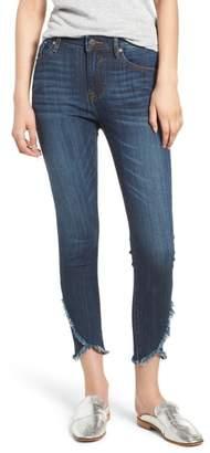 Vigoss Asymmetrical Fray Hem Skinny Jeans