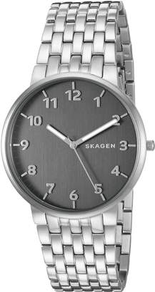 Skagen Men's 'Ancher' Quartz Stainless Steel Automatic Watch, Color:Silver-Toned (Model: SKW6247)