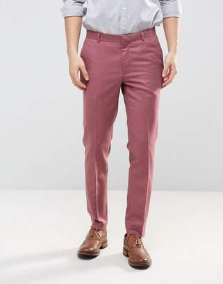 Asos DESIGN 100% Merino Wool Skinny Pant with Turn Up