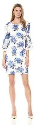 Robbie Bee Women's Printed Lace Sheath Dress