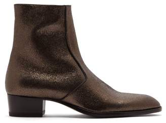 Saint Laurent Wyatt Glitter Chelsea Boots - Mens - Grey
