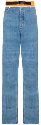 Maison Margiela contrasting waistband straight-leg jeans