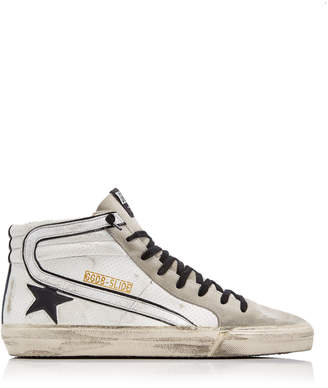 Golden Goose Slide High-Top Leather Sneakers