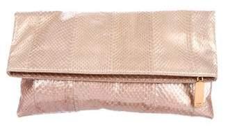 Fendi Chameleon Snakeskin Fold-Over Clutch