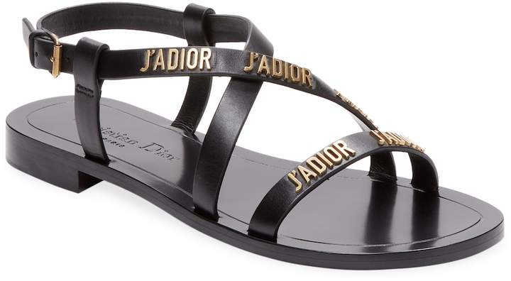 Dior Women's Leather Flat Sandal