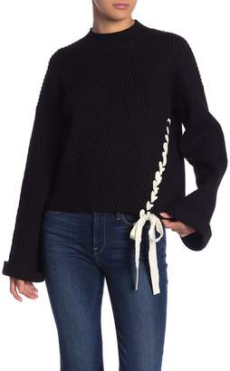 Fate Lace-Up Bell Sleeve Sweater