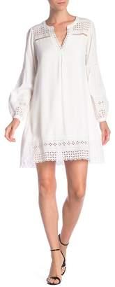 Hale Bob Eyelet Lace Trim Dress