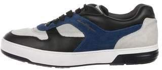 Salvatore Ferragamo Suede Low-Top Sneakers