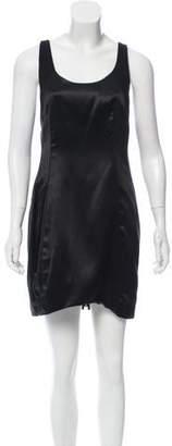 Helmut Lang Silk Sleeveless Mini Dress