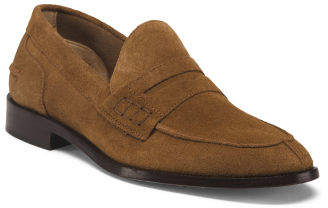dedb8f9b6f5 Made In Italy Moc Toe College Suede Loafers