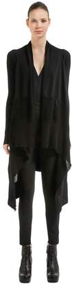 Rick Owens Cotton Knit Long Wrap Cardigan