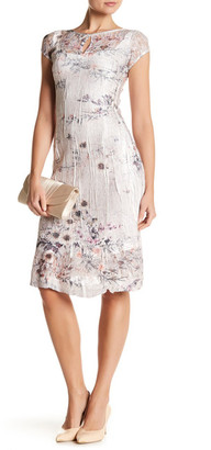 KOMAROV Cap Sleeve Keyhole Dress $278 thestylecure.com