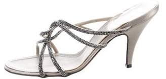 Rene Caovilla Strass Slide Sandals