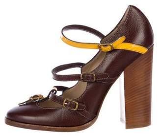 Dolce & Gabbana Leather Multistrap Pumps