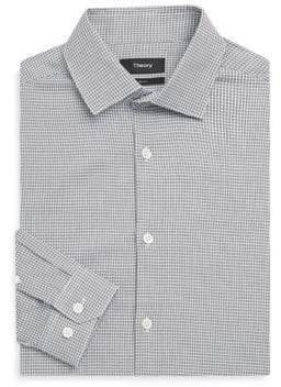 Theory Slim-Fit Houndstooth Dress Shirt