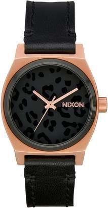Nixon Medium Time Teller Leather Strap Watch, 31mm