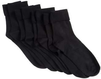 Hanes Womens Comfortsoft Cuff Socks, 3 Pack