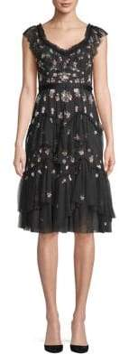 Needle & Thread Lustre Sleeveless Fit Flare Dress