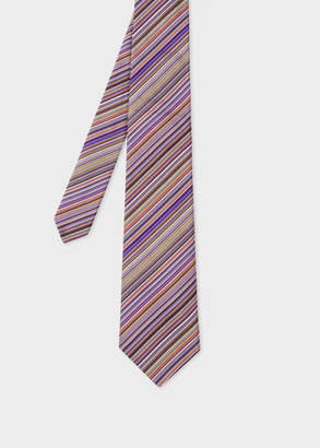 Paul Smith Men's Purple Signature Stripe Silk Tie