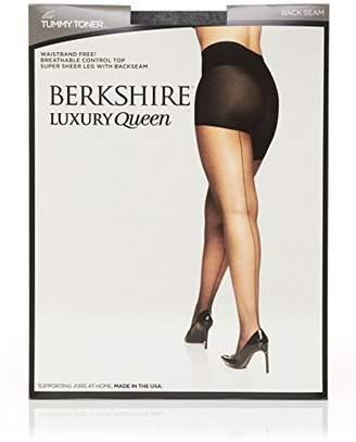 Berkshire Women's Plus Size Luxury Queen Tummy Toner Backseam Pantyhose