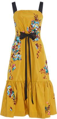 Prabal Gurung Peplum Hem Gathered Waist Dress