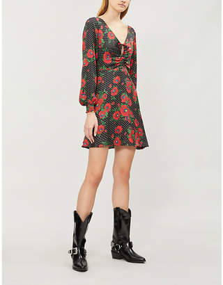 Free People Morning Light floral-pattern crepe mini dress