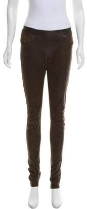 Les Chiffoniers Mid-Rise Leather Pants