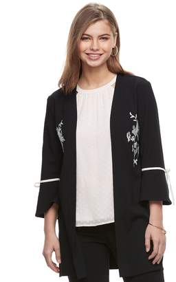 Candies Juniors' Candie's Embroidered Bell Sleeve Kimono