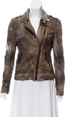 Doma Printed Leather Jacket