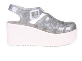 Nature Breeze caged Jelly Platform Women's Sandals in Glitter